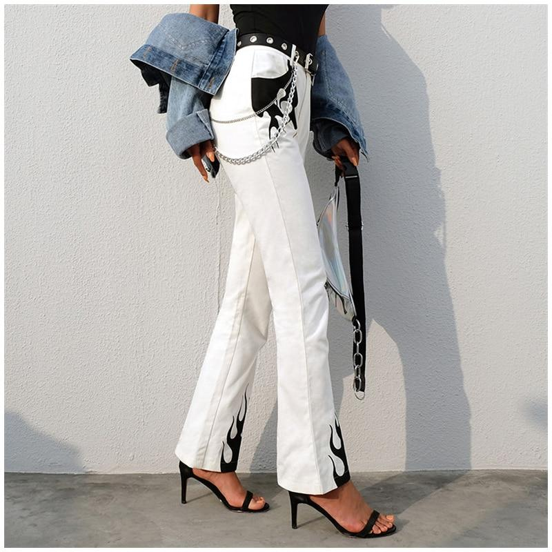 HIGH WAIST LONG FLARE PANTS