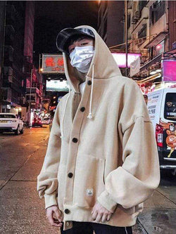 KOREAN HOODED MEN JACKET