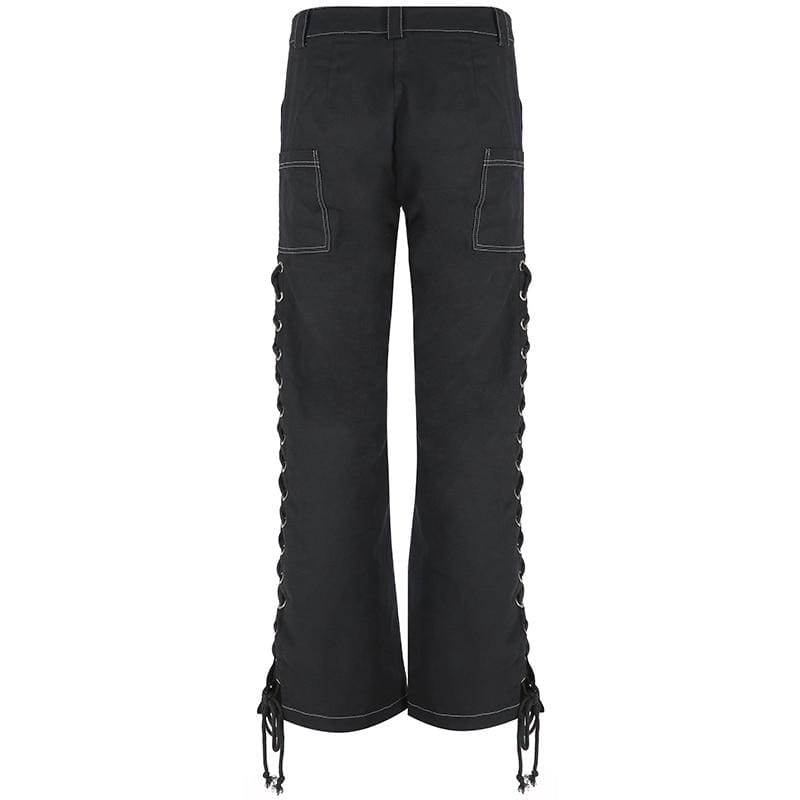 LACE-UP STRAIGHT PANT