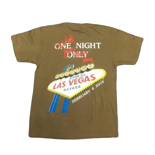 LAS VEGAS TOUR TEE - LIMITED AT 20 EXEMPLARY