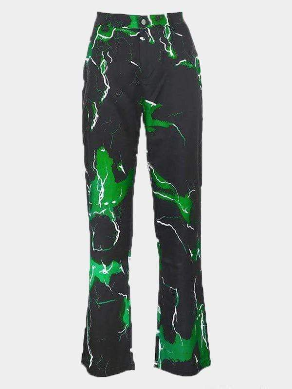LIGHTNING PANTS GREEN S