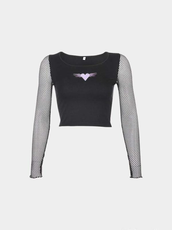 LONG SLEEVE CROP TOP GOTHIC L