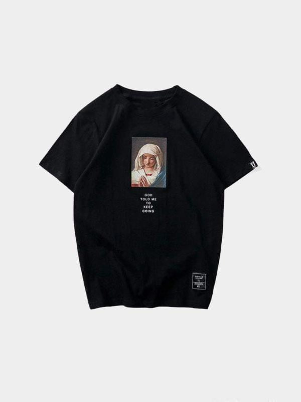 PRAY T-SHIRT Black / L