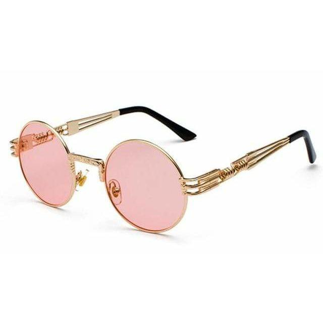 QUAVO SUNGLASSES Gold Clear Pink