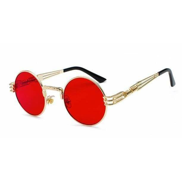 QUAVO SUNGLASSES Gold Clear Red