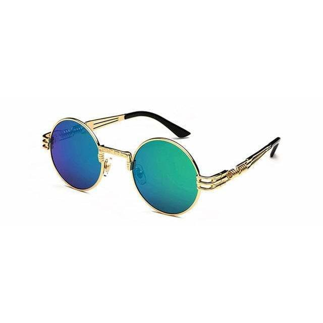 QUAVO SUNGLASSES Gold Green Mirror