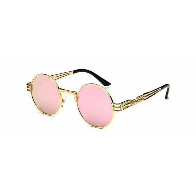 QUAVO SUNGLASSES Gold Pink Mirror