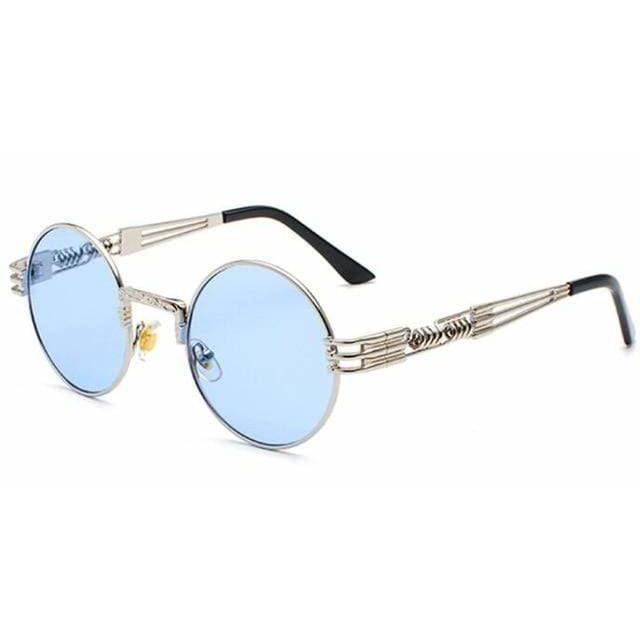 QUAVO SUNGLASSES Silver Clear Blue