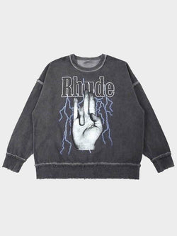 RHUDE FINGER SWEATER L