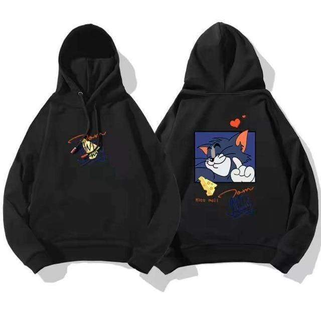 TOM AND JERRY LOVE HOODIE Black Tom / S / China