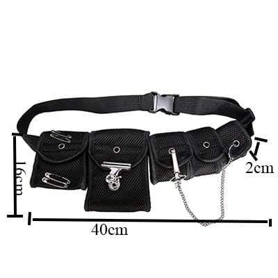 WAIST BELT BAG TACTICAL Black