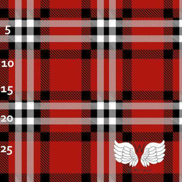 College plaid rød og svart jersey Wcollecion