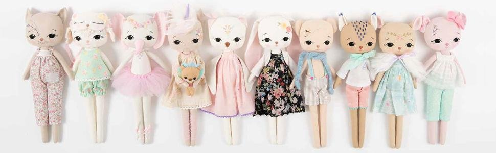 Gingermelon's Embroidered Animals : Heirloom animal dolls to sew, embellish and treasure