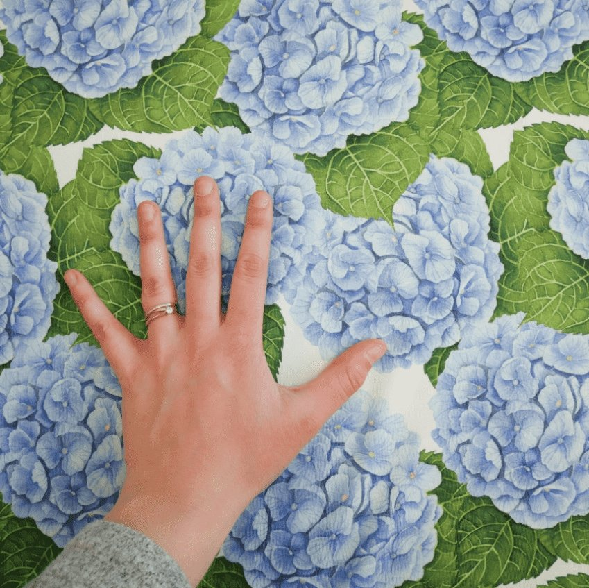 Hortensia Blå Jersey - Color in my Soul