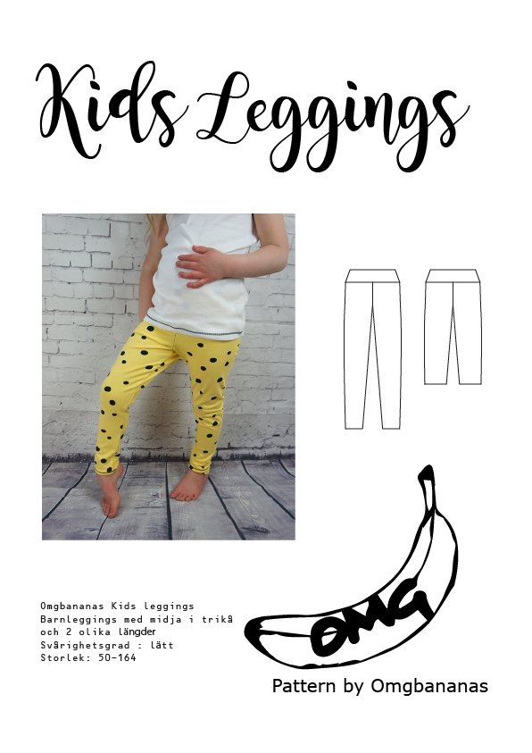 Kids Leggings symønster barn OMGBananas