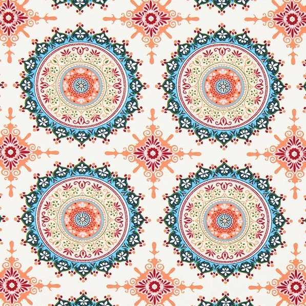 Marrakesh Mandala white - Gutermann 100% bomull
