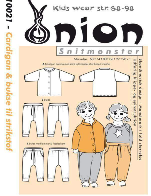 Onion symønster Cardigan & Bukse (10021)