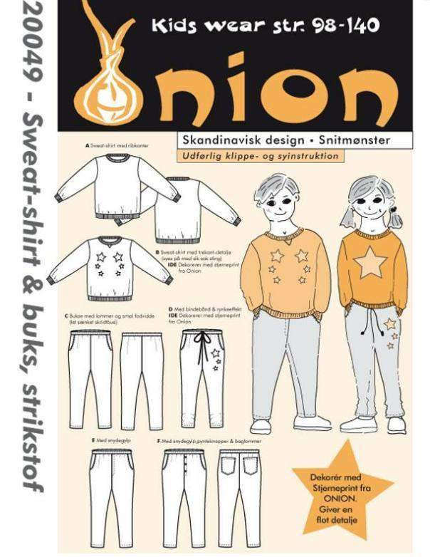 Onion symønster Sweatshirt & Bukse (20049)
