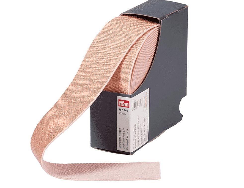 Prym Elastisk strikk 50mm - Rose Gold