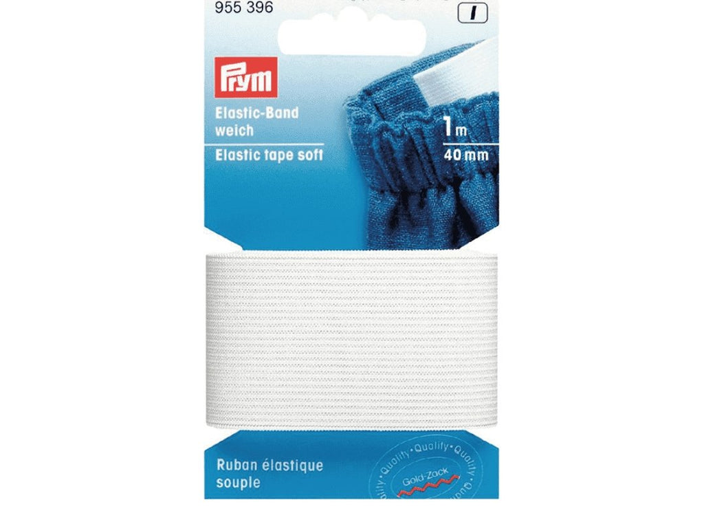 Prym Elastisk strikk – Soft – 40 mm. hvit 1 mtr.
