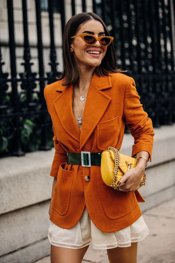 Orange street style outfit inspiration