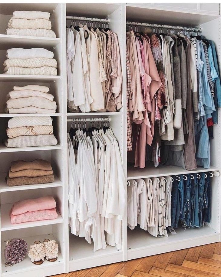 Hanging and Folding Clothes in Closet | Kindly, Darling Blog