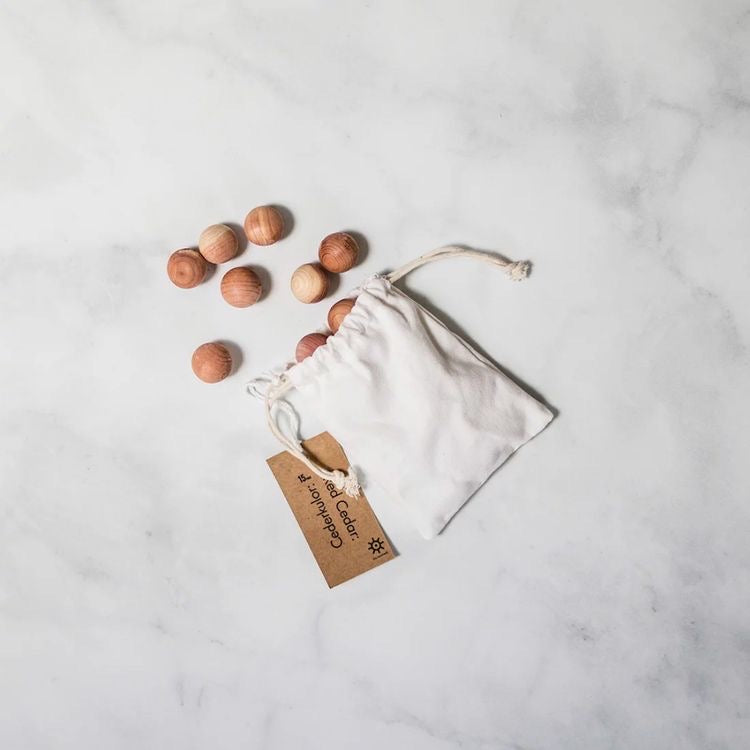 Cedarwood Moth Balls | Kindly, Darling Sustainable Blog