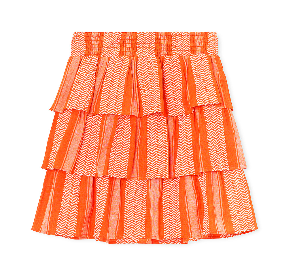 Cecilie Copenhagen Becky Stripes Mini Skirt - Peach