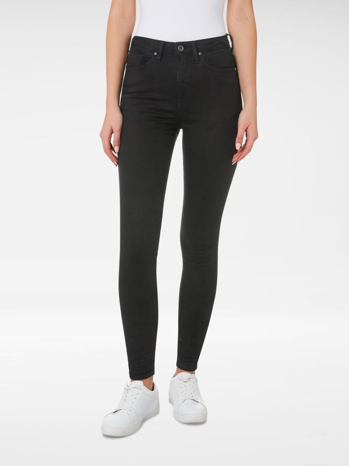 Front of the Outland Denim - Harriet Jean in Black - Full Length