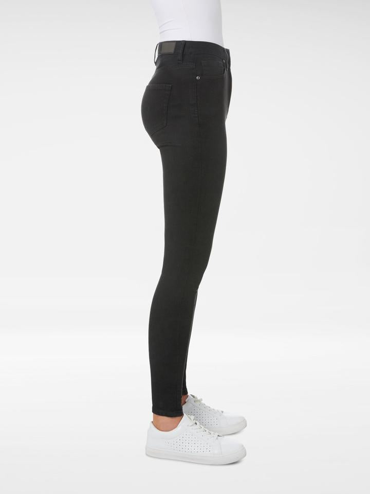Side view of the Outland Denim - Harriet Jean in Black - Full Length