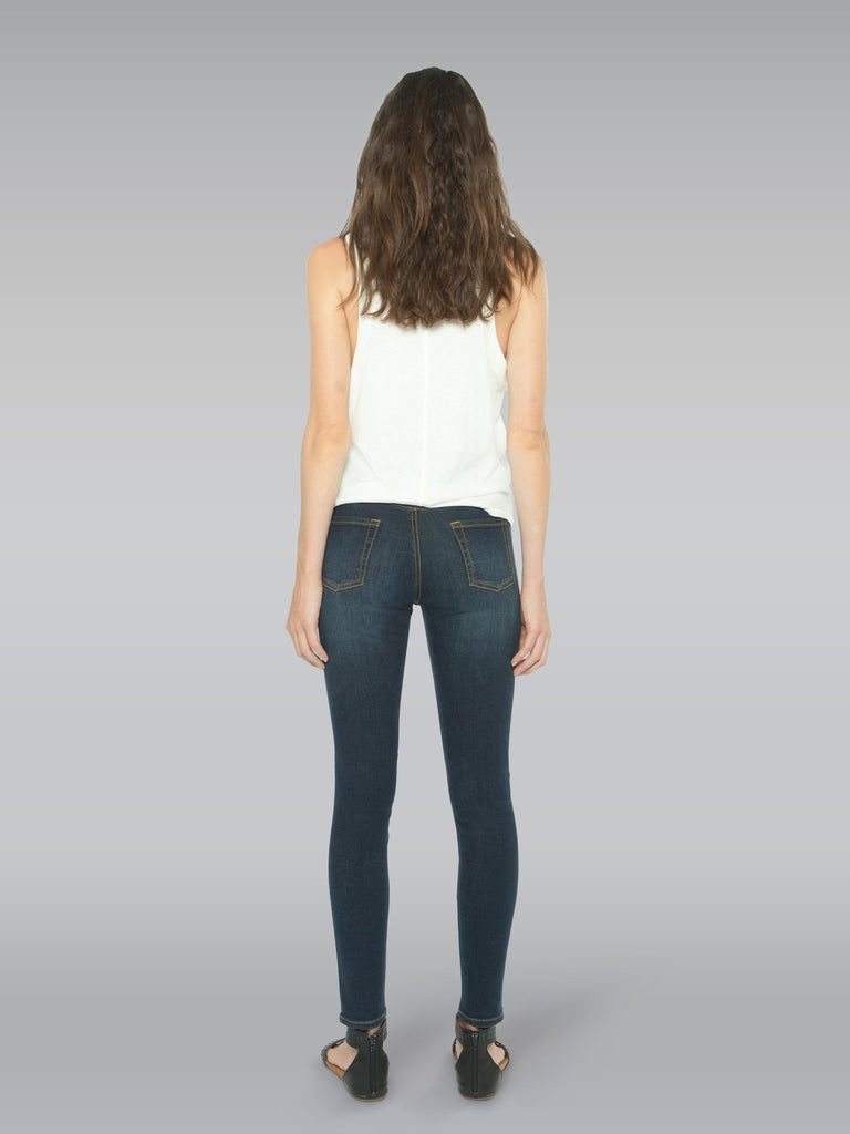 Back view of the Outland Denim Isabel Jean in Black