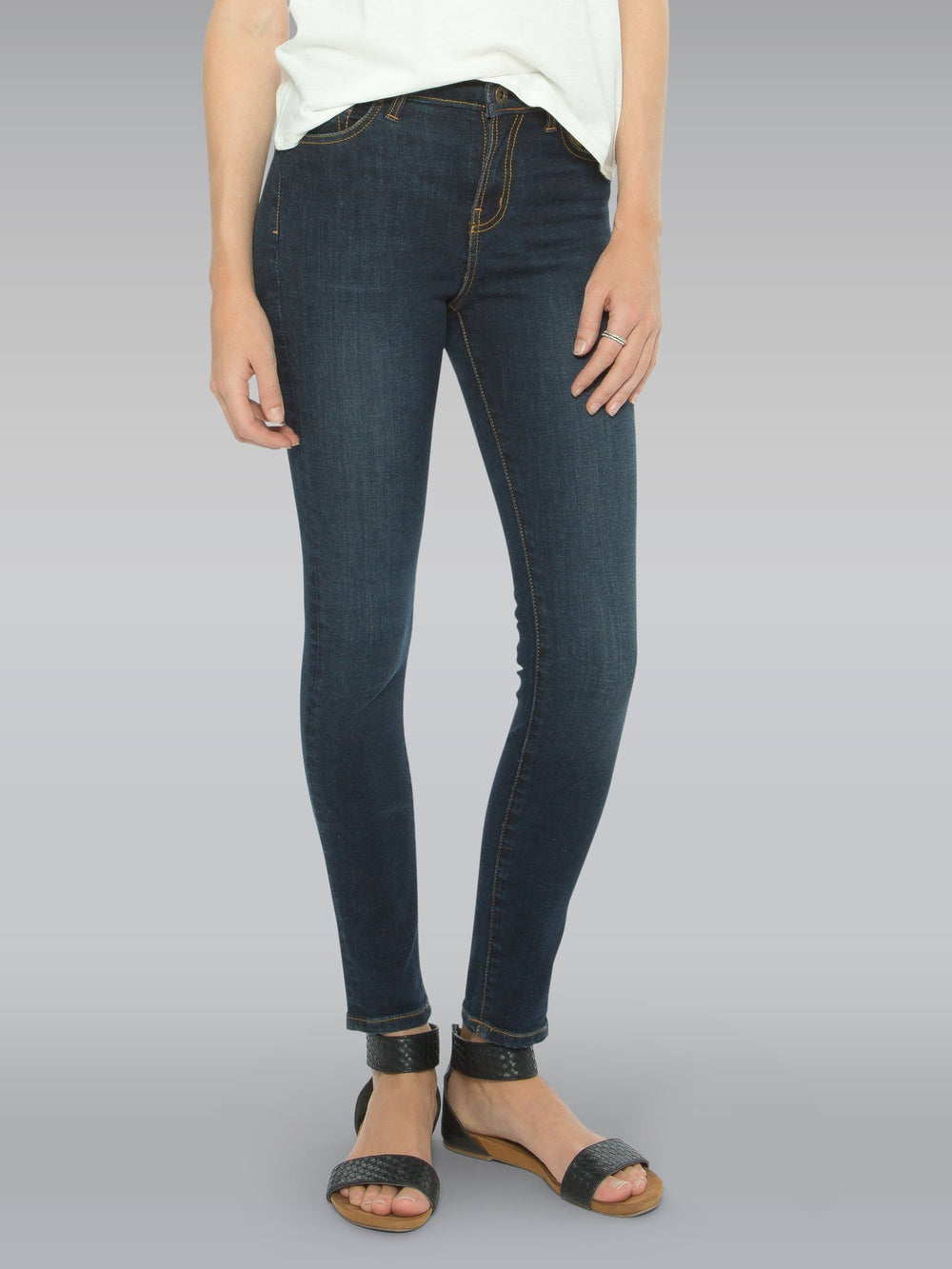 Front view of the Outland Denim Isabel Jean in Black