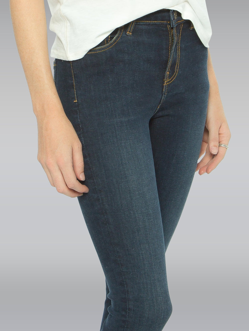 Close up of the front of the Outland Denim Isabel Jean in Black