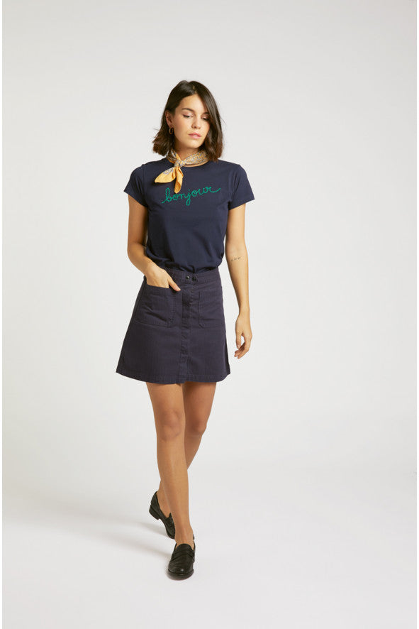 Front view of the Maison Labiche One of a kind Worker Skirt| Kindly, Darling | Australia
