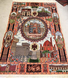 Pictorial Design Tabriz Rug