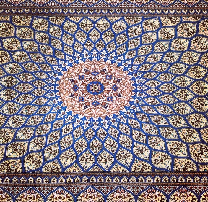 Dome Design Persian Silk Rug