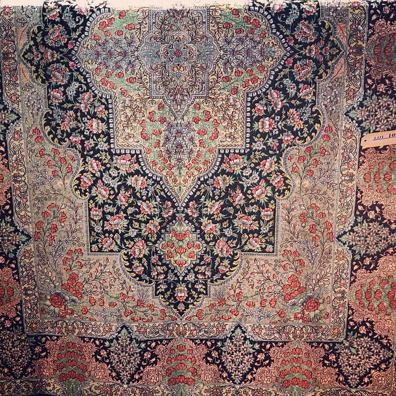 Masterpiece Qom Silk Rug