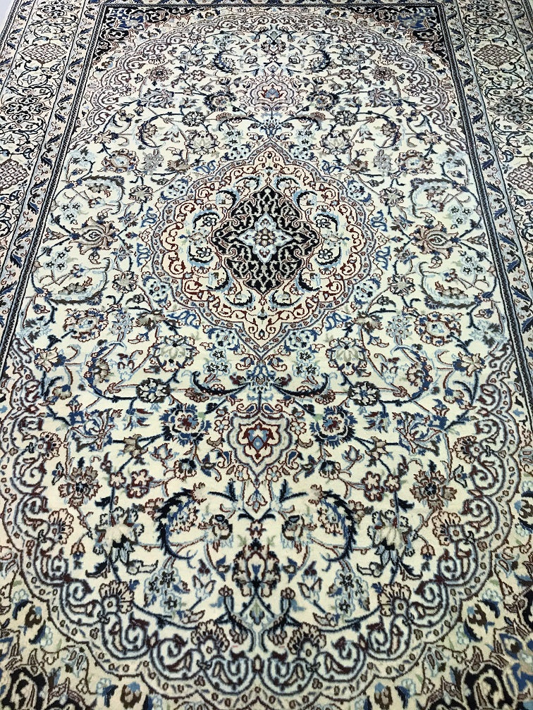 Silkinlaid Nain Persian Rug