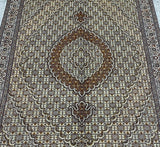 Superfine Fish Design Tabriz Rug