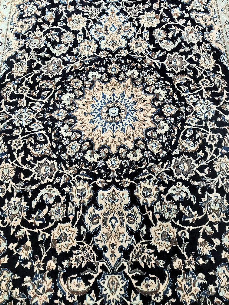 Silk Inlaid Nain Persian Rug