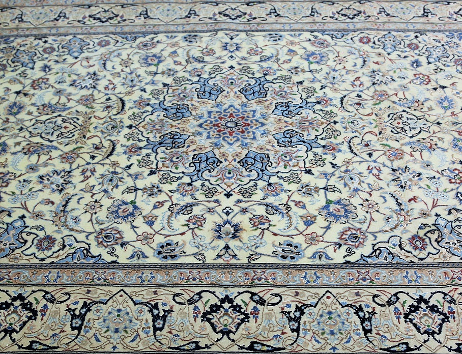 Antique Masterpiece Persian Nain Rug