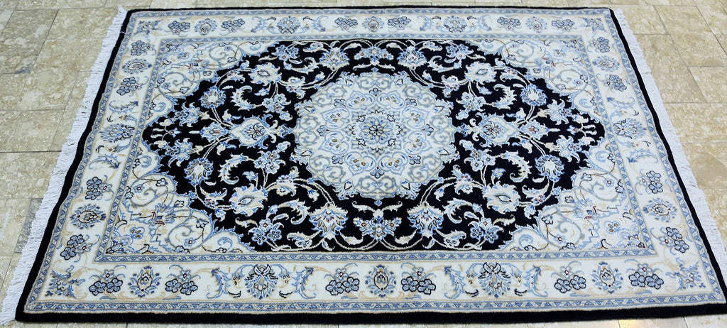 Superfine Silkinlaid Nain Rug