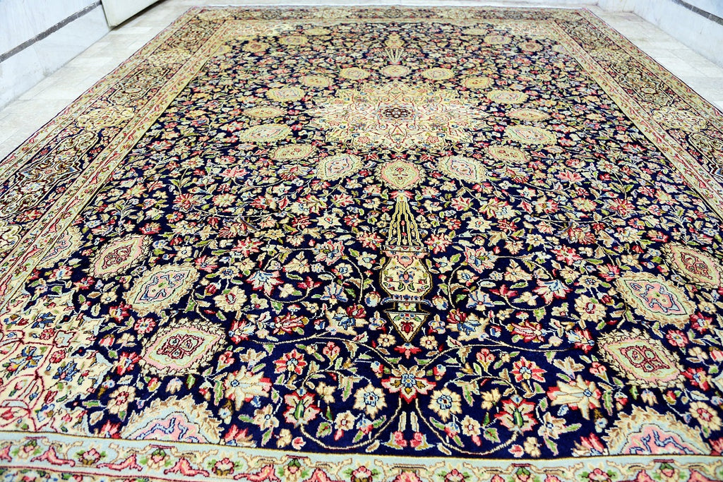 Dome Design Kerman Rug