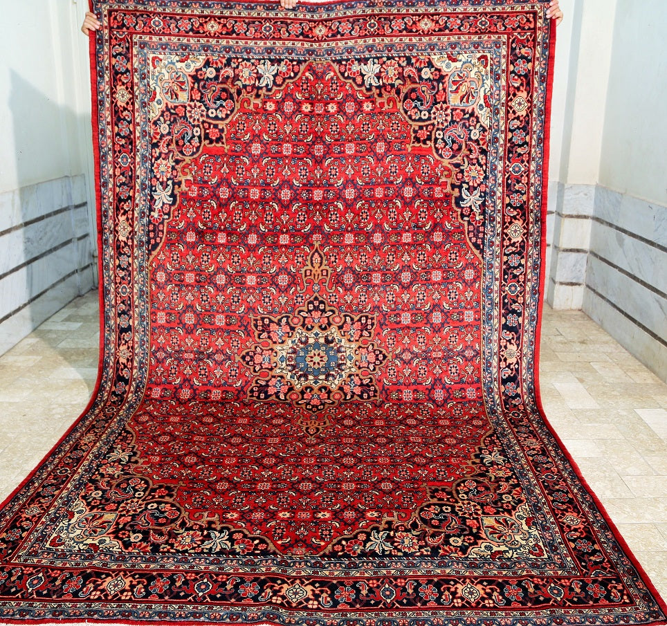 Bijar Persian Iron Rug