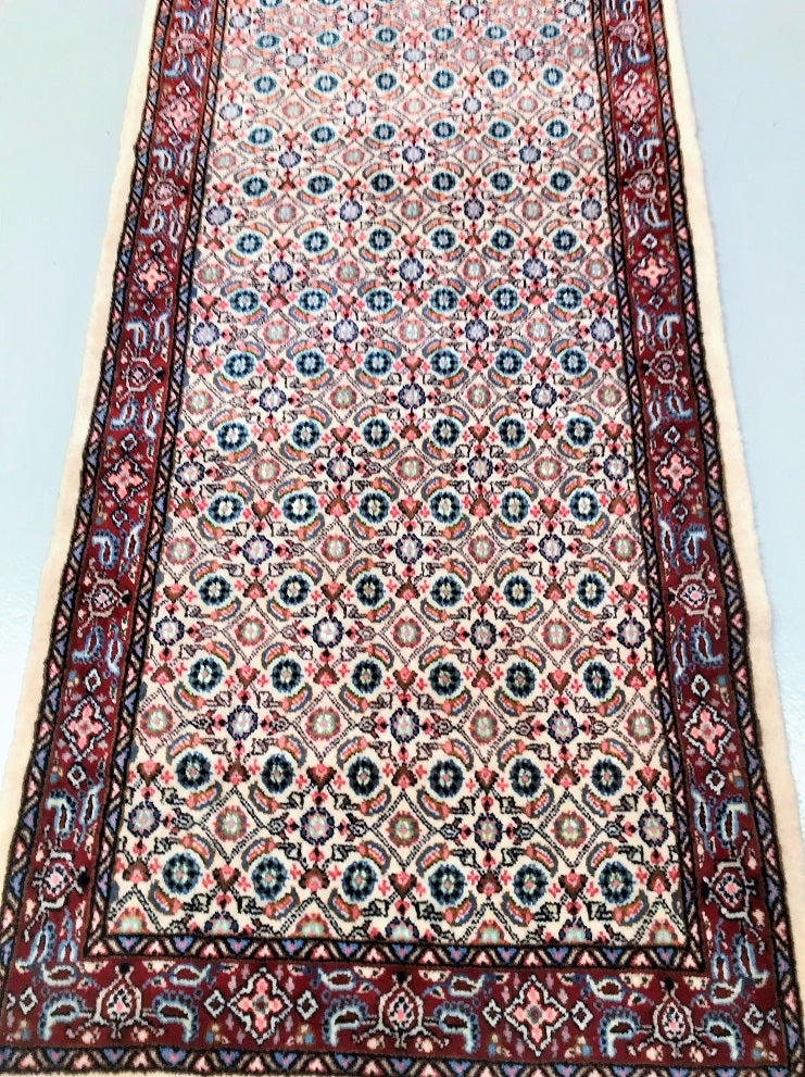 Silk inlay Birjand Persian Runner