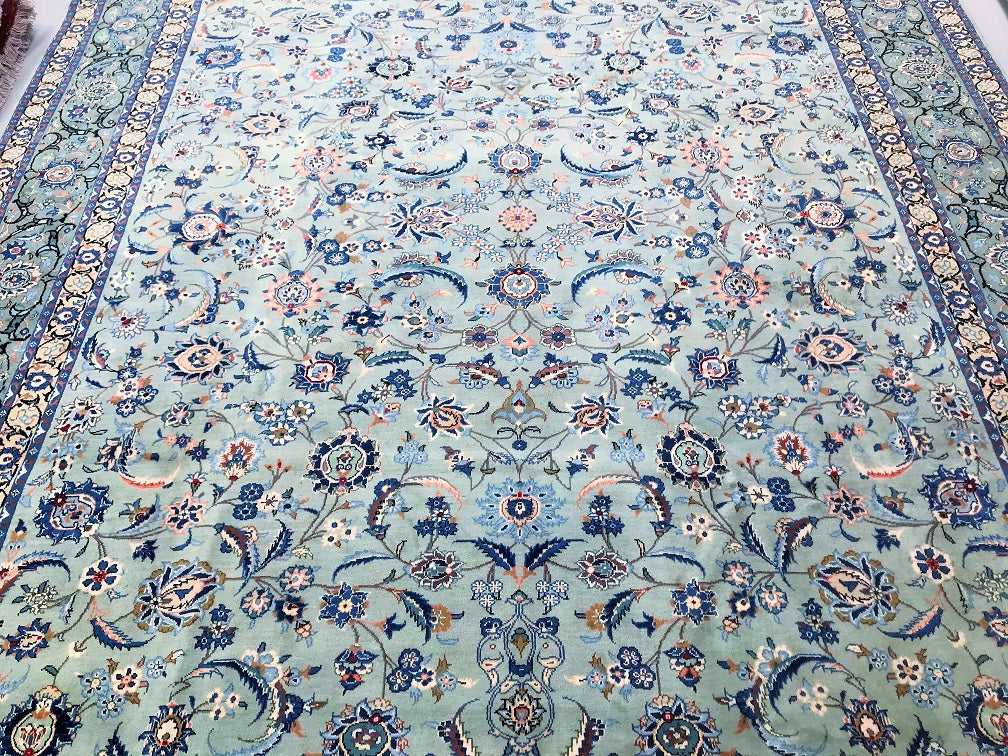 Antique Kashan Persian Rug