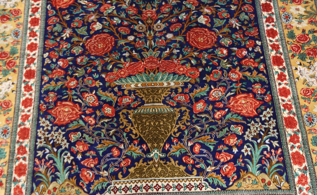 Masterpiece Pure Silk Qom Rug