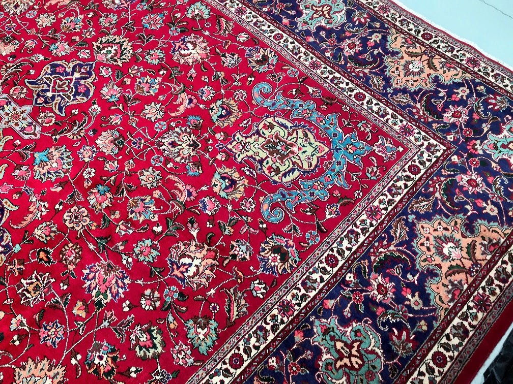 4x3m Antique Persian Tabriz Rug