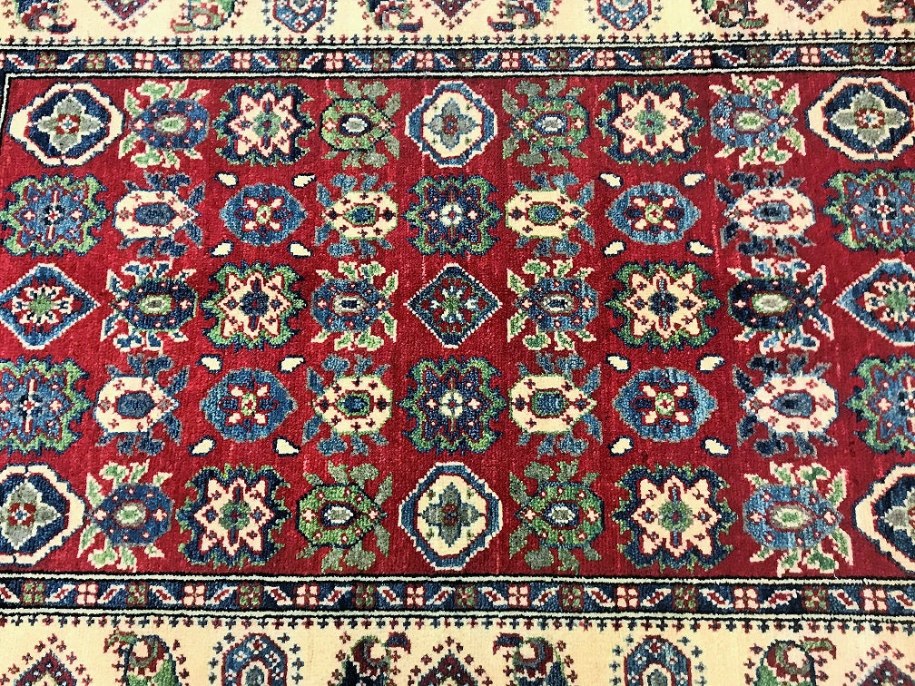 Unique Afghan Kazak Rug