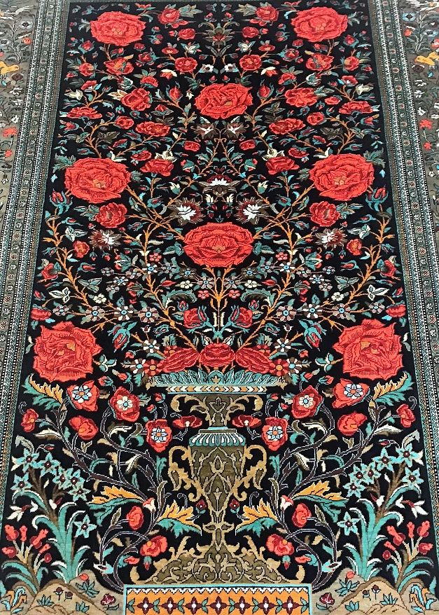 Masterpiece Pure Silk Qum Rug